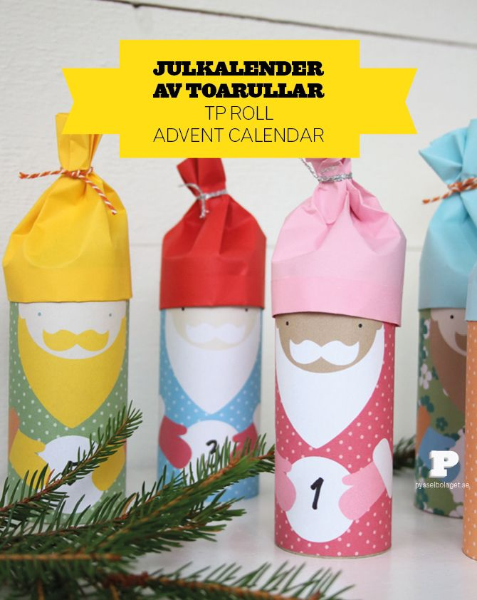 Download Pysselbolaget's santa templates and make your own advent calendar!
