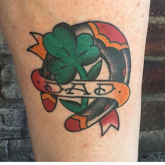 40 Colorful Shamrock Tattoo Designs - Traditional Symbol of Luck Check more at http://tattoo-journal.com/best-shamrock-tattoo/