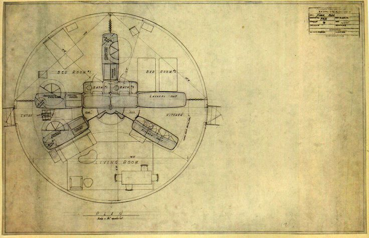 House projects floor plans and buckminster fuller on for Dymaxion house plans
