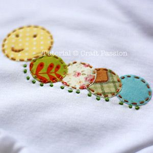 Sewing | Pattern | Tutorial | Hand Applique | Free Pattern & Tutorial at CraftPassion.com