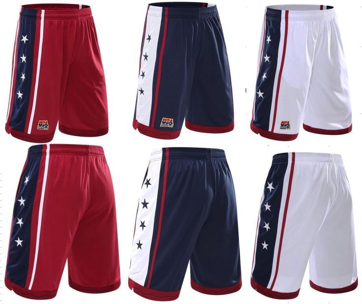 [Visit to Buy] USA Basketball Shorts Men Polyester Mesh Sport Running Short Pants Homme Drawstring Gym Joggers Bermuda Surf Pantaloncini Basket #Advertisement