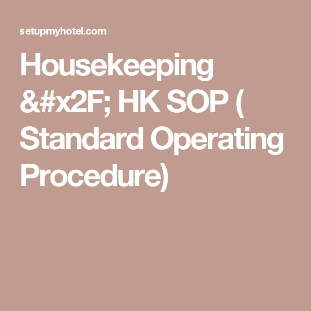 sop s for housekeeping Position classification standard for hospital housekeeping  housekeeping management work us  position classification standard for hospital.