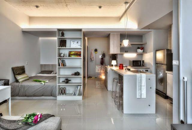 ACHADOS DE DECORAÇÃO - blog de decoração: QUITINETE OU KITNETE DE 32 M²: PERFEIÇÃO EM FORMA DE MINI APARTAMENTO
