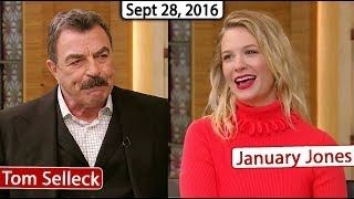 Tom Selleck, January Jones INTERVIEW | Live with Kelly TV Show (September 28, 2016) - YouTube