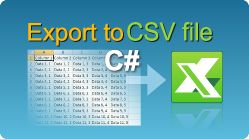 Export data to CSV file in C#.NET from ASP.NET web pages, windows applications, winforms, console applications! Spreadsheets in .NET. #EasyXLS #Excel #Export #CSV #CSharp