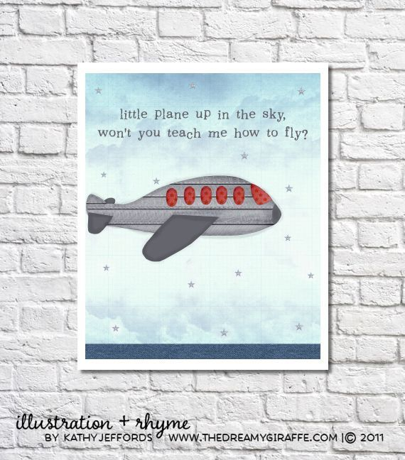 Navy And Gray Nursery Airplane Art Print Aeroplane Decorations Baby Boy Room Decor Transporation Wall Art Air Plane Poster Aviation Artwork