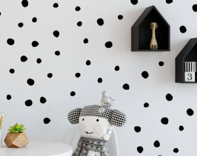 Etsy Your Place To Buy And Sell All Things Handmade Polka Dot Wall Decals Fabric Wall Decals Wall Decals