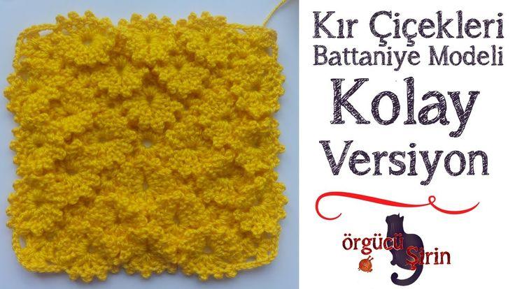 Kır Çiçekleri Bebek Battaniyesi (Yeni Başlayanlar için) / Örgü Modelleri