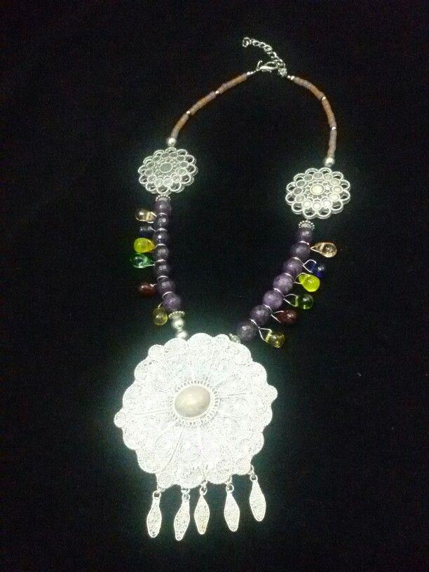 Indonesian Ethnic Jewelry: Java silver flower by Wita Anggraini-Indonesia
