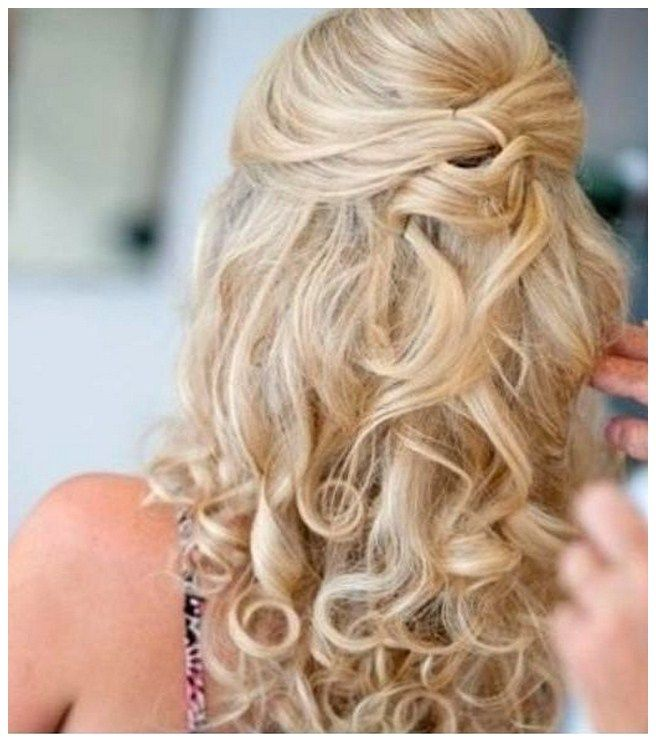 diy hair styling curly prom hairstyles for hair diy half up half 3842