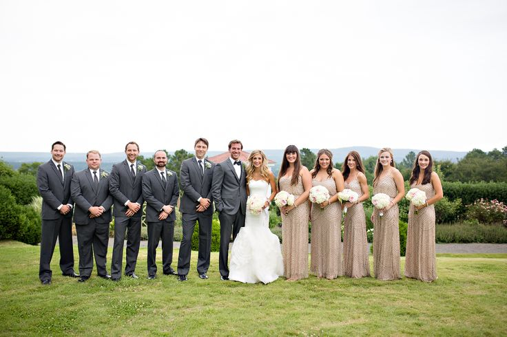 Elegant Gray, Taupe Wedding Party