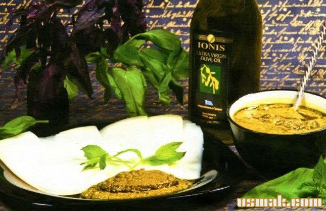 Рецепт Песто зеленый фото