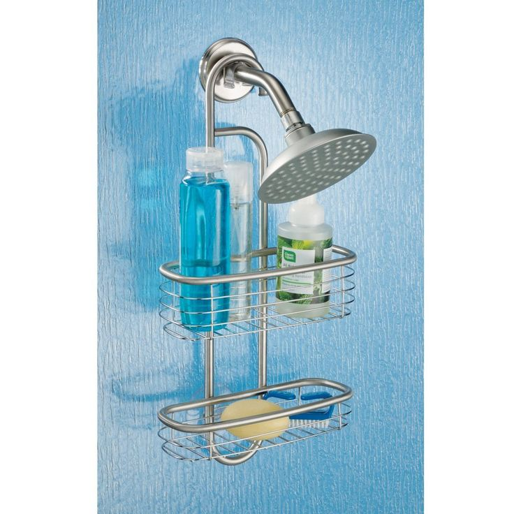 InterDesign Forma Ultra, Shower Caddy, Brushed Stainless Steel. Requires No  Mounting Hardware.