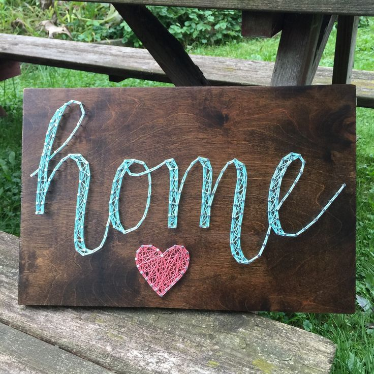Heart & Home string art by SeasonOfSeeking on Etsy  https://www.etsy.com/listing/250586731/heart-home-string-art