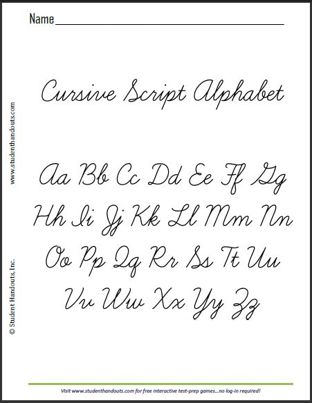 Worksheets Cursive Alphabetical Order 17 best ideas about cursive alphabet on pinterest printable this is a sample sheet of the script alphabet