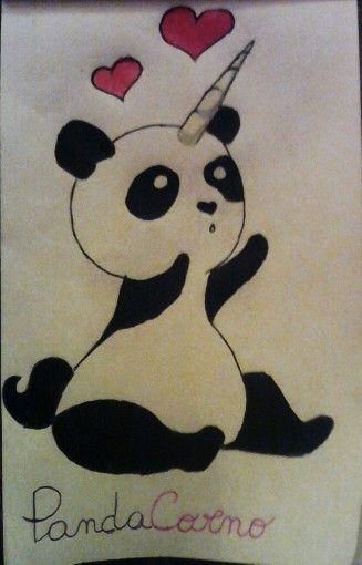 Panda col corno