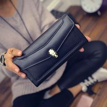 2016 Long Women Wallets Fashion Snake Head Thread Woman Ladies Leather Wallet Purse Money Purses Clutch Coin Pocket Dollar Price(China (Mainland))