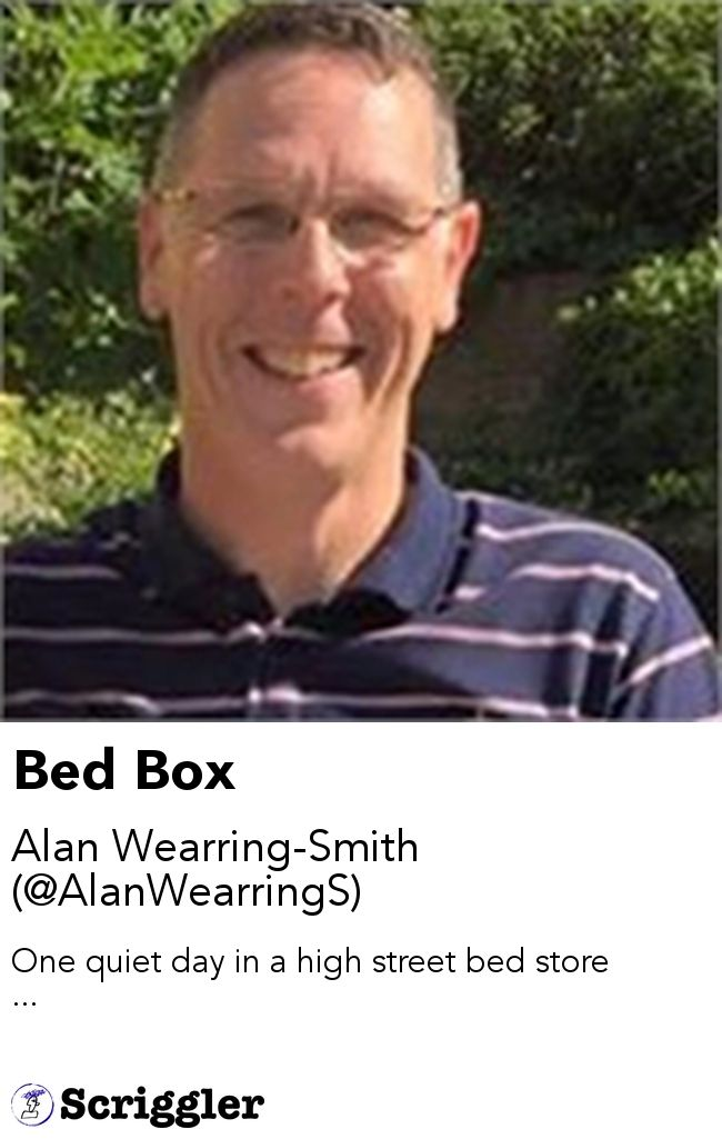 Bed Box by Alan Wearring-Smith (@AlanWearringS) https://scriggler.com/detailPost/story/54469 One quiet day in a high street bed store ...