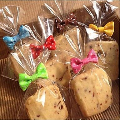 Twist Ties with Bowknot for Bakery Candy Cookie Bags Craft Wedding Baby Shower Party Favors Decorations(Set of 20) - EUR € 2.72