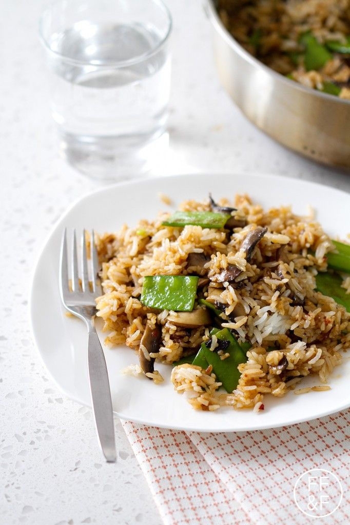 Spicy Rice with Mushrooms and Snow Peas from FoodFashionandFun.com