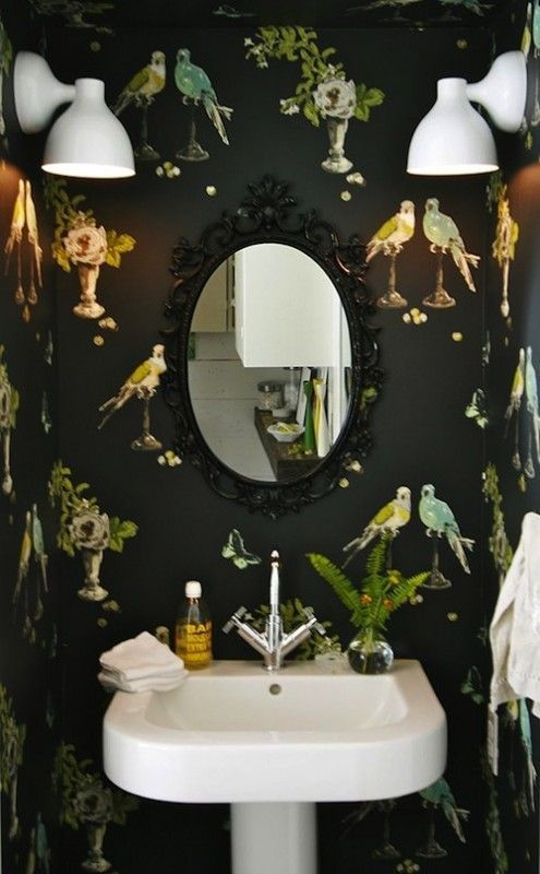 I Would Love A Dark Eccentric Downstairs Loo Interior Trends