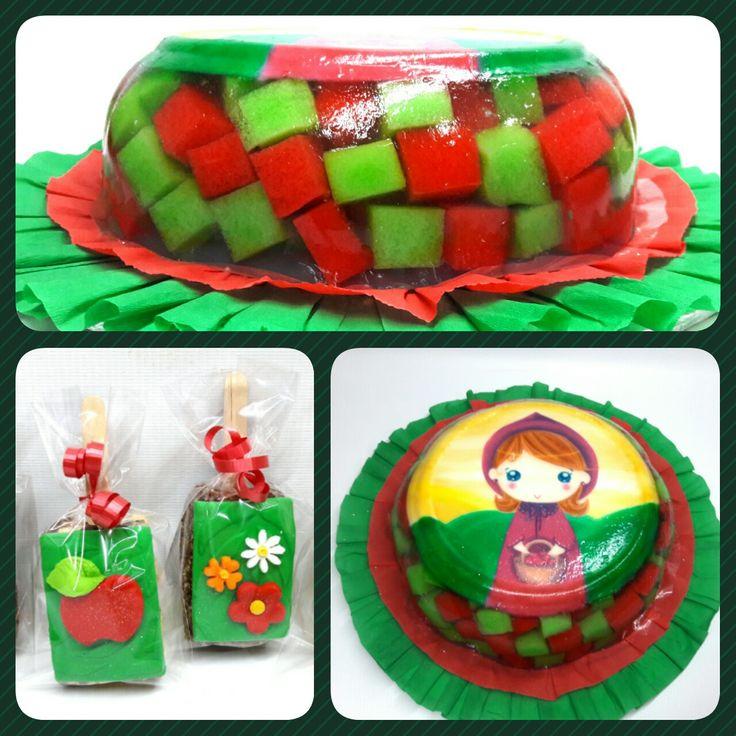 Gelatina Mosaico 3D y Ricekrispy Caperucita Roja #pritycakes #PrityCakes #gelatina #gelatinamosaico #jelly #edibleprint #ricekrispy #CaperucitaRoja #LittleRedRidingHood #pastrypanama #panama #panamacake #pty507