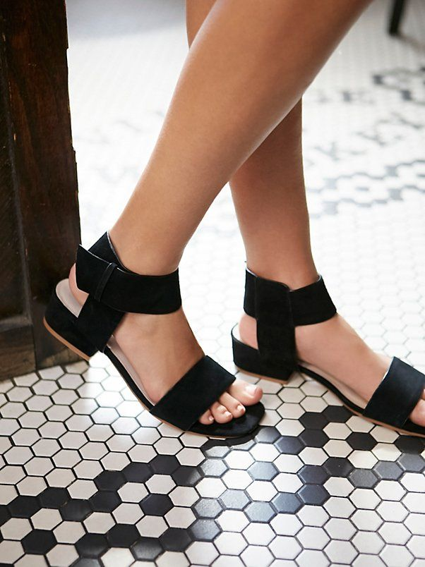 Coconuts by Matisse Black Resort Block Heel Sandal at Free People Clothing Boutique | @andwhatelse