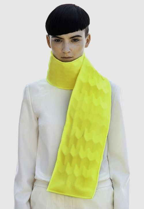 CMF we like / Scarf / neon / Pattern / 3D / at leManoosh