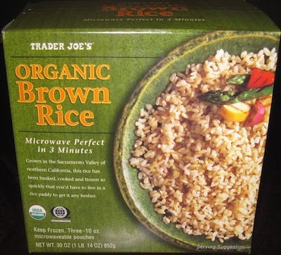 Dear Trader Joe.... If your frozen brown rice is as good as all the bloggers state...I'm in love