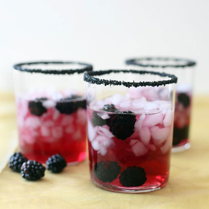 Cocktail recipe: Sweetest Death (a nod to sugar skulls) 2 oz lemon-flavored vodka 2 drops orange-flavored bitters Very healthy splash of blackberry juice Club soda Blackberries Rim short bar glass with Dell Cove Spice Co.'s Midnight Black cocktail rim sugar. Fill with ice. In cocktail shaker filled with ice, combine vodka, blackberry juice and bitters. Shake vigorously, and then strain into rimmed glass. Top with club soda and garnish with berries. Rim sugar listing by clicking on the photo!