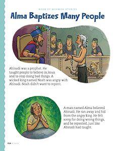 Alma Baptizes Many People