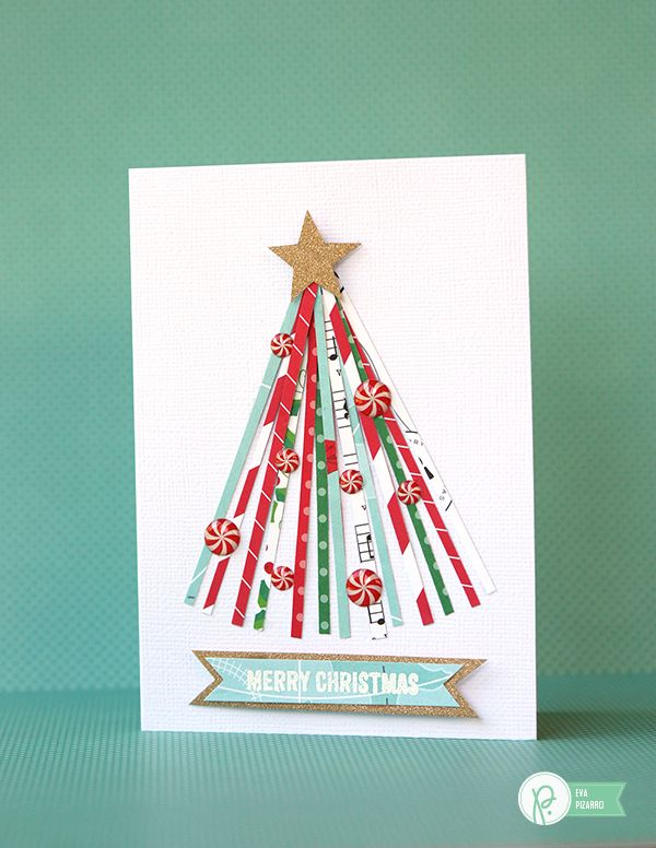 Christmas Cards with scraps of paper