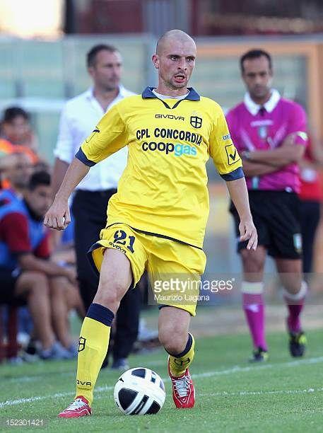 Daniele Dalla Bona of Modena during the Serie B match between Reggina Calcio and FC Modena at Stadio Oreste Granillo on September 15 2012 in Reggio...