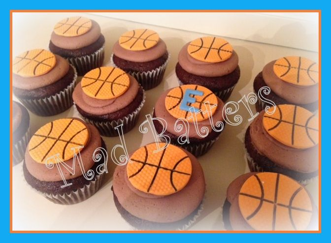 Easy Basketball Cake Decorating Ideas : Basketball Cupcakes Mad Batters for Boys cupcakes and ...