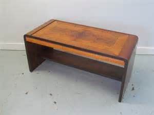 Art Deco Era Waterfall Bench Coffee Table
