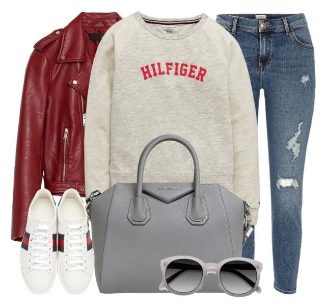 """Bern"" by monmondefou ❤ liked on Polyvore featuring River Island, Tommy Hilfiger, Givenchy, Gucci and Ace"