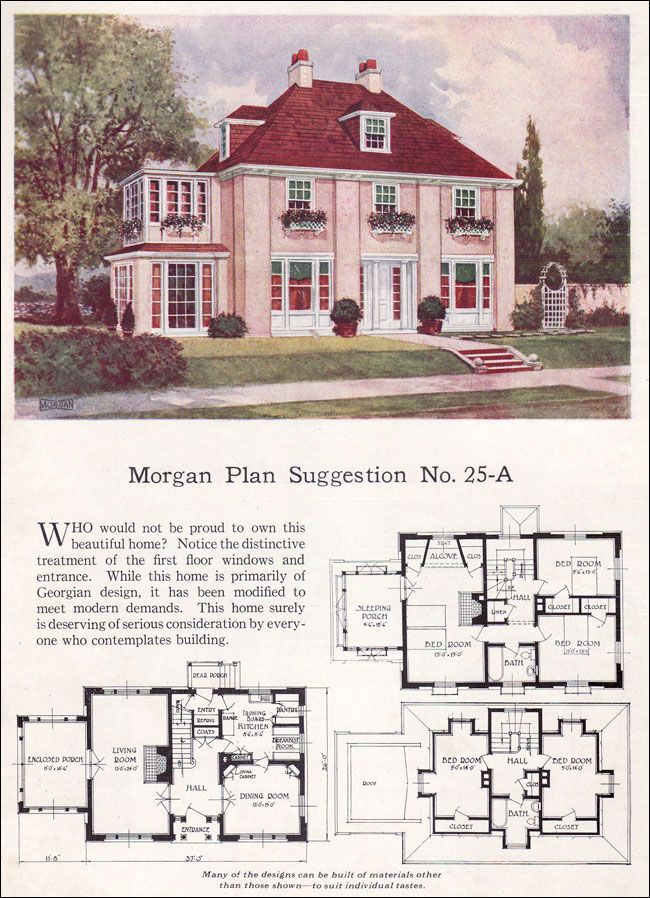 vintage 1923 2 story house design with floor plan i adore the bedrooms tucked up under the attic roof and would love to have a sleeping porch - Images House Plans 1890 S