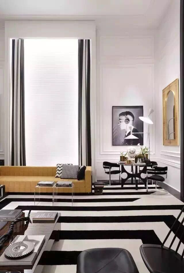 This is a very modern lounge room