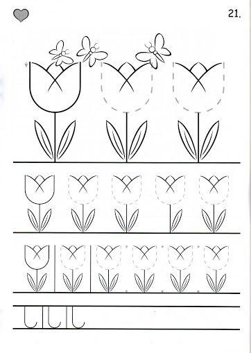 tulip tracing // trazo de tulipanes #trace #prewriting