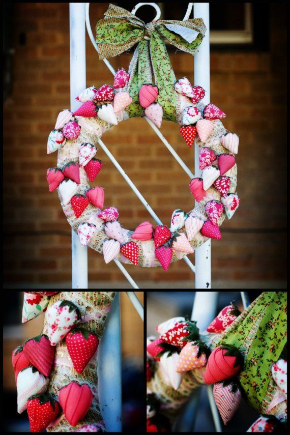 """S/O for Heather :) 18"""" Strawberry, Summer's Pick Wreath"""