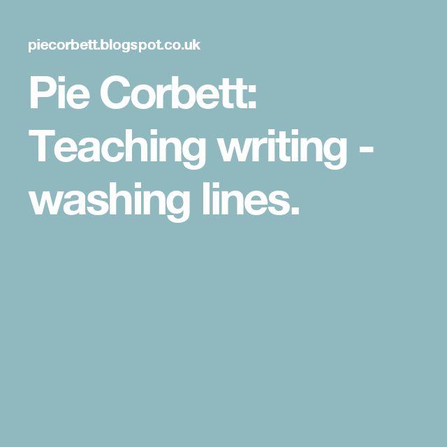 Pie Corbett: Teaching writing - washing lines.