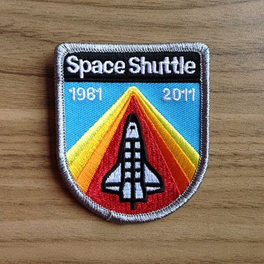 Space Shuttle Tribute Patch by Aaron Draplin