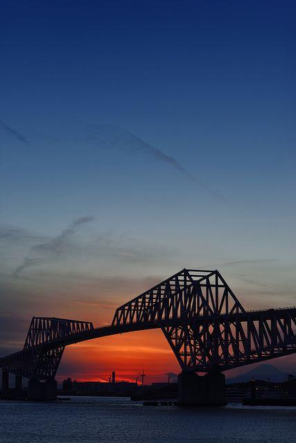 Sunset in Tokyo Gate Bridge