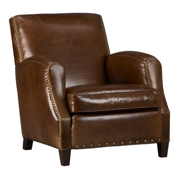 Metropole Leather Chair Crate Barrel Living Area Chair