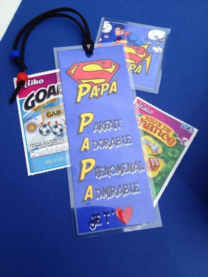 Carte cadeaux Fête des pères ' Mon papa, ce super héros '
