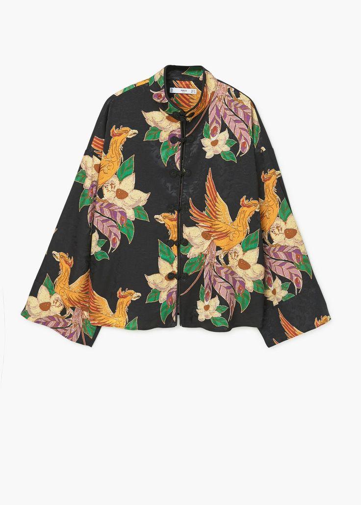 Blouse kimono à fleurs | MANGO