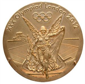 2012 summer olympics gold medal front