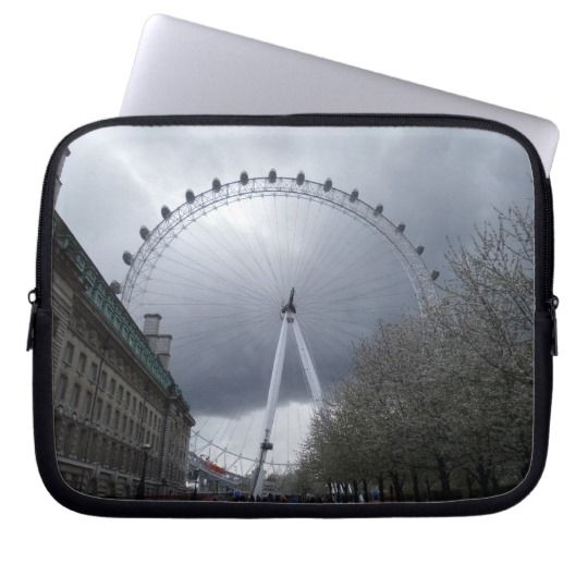 #zazzle #London #Eye #Neoprene #Laptop #Sleeve #10 inch #office #home #travel #gift #giftidea