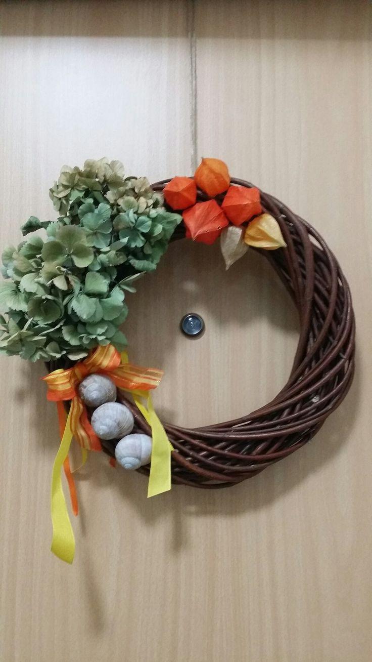 Věnec na dveře - podzim