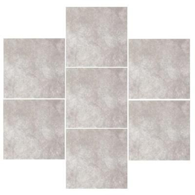 bathroom floor tiles home depot trafficmaster portland gray 18 in x 18 in glazed 22117